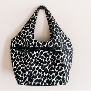 RARE Kate Spade Large Tate Lindenwood Leopard Shoulder Bag Animal Print Tote